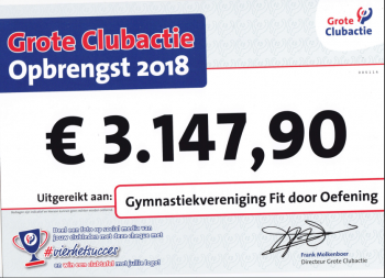 Grote Club Actie 2018 tussenstand